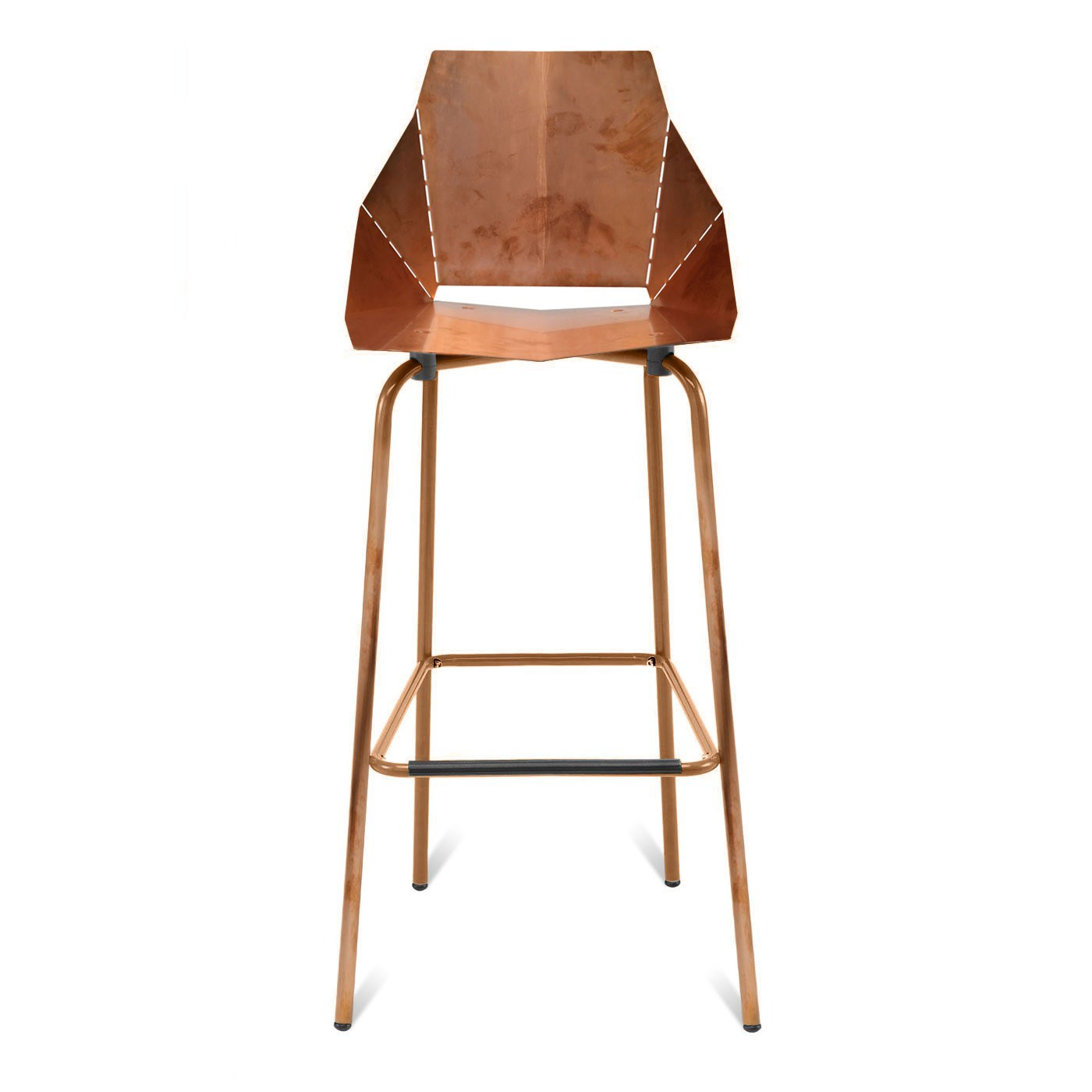 furniture-interior-minimalist-copper-barstool-with-four-leg-orange-iron-legs-for-any-room-decor-fascinating-modern-bar-stools-picture-ideas