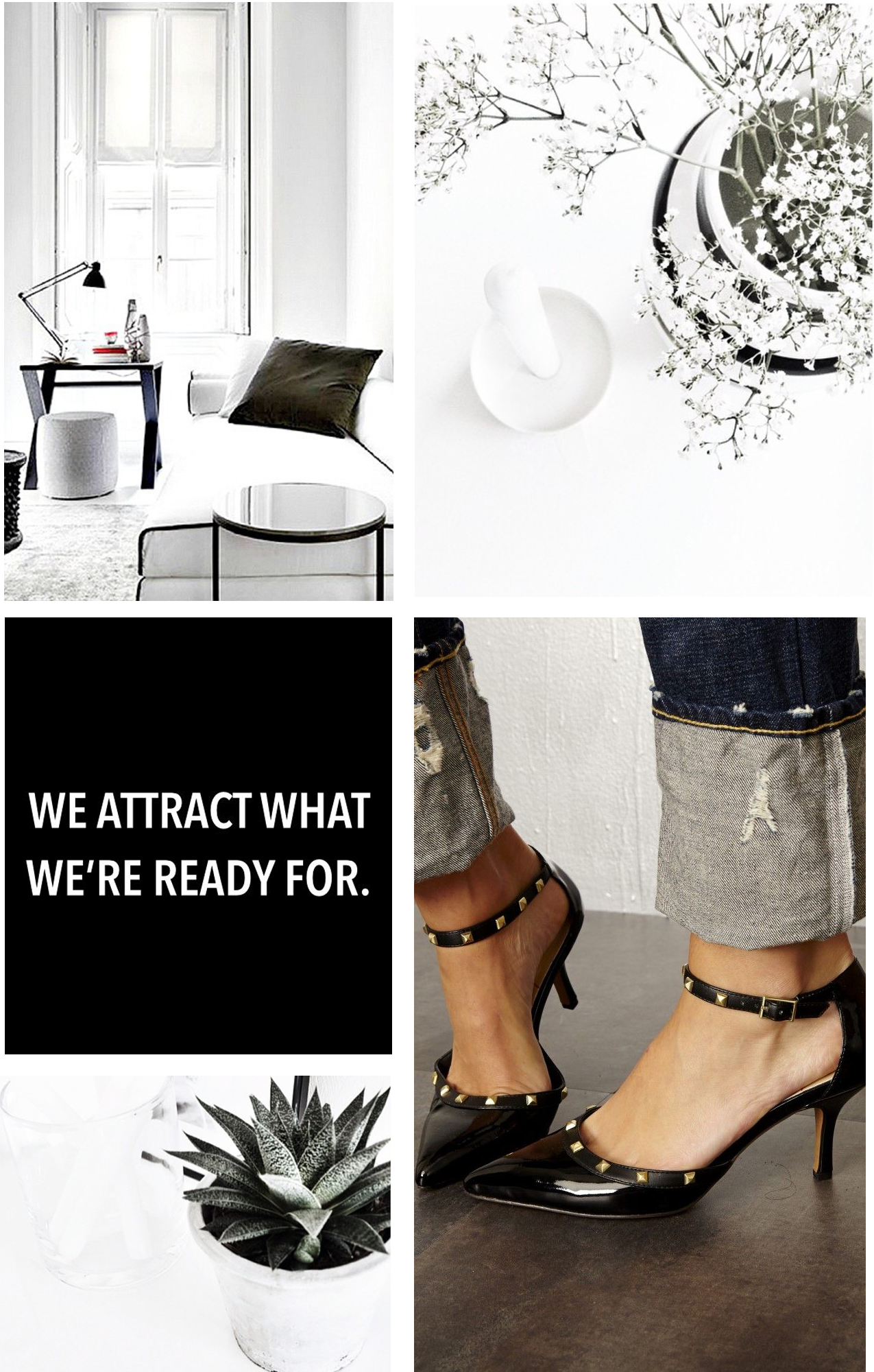 Black white. interieur moodboard